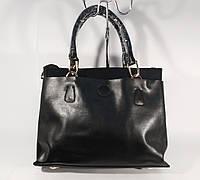 Кожаная женская средняя сумка, саквояж  Voee Vodd 2318 черный