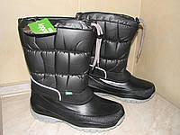 Сапоги-дутики на осень и зиму Demar Лакки черные р.36,39/40,41/42 обувь от непогоды для всей семьи