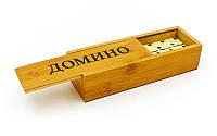 Домино в бамбуковом пенале