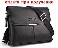Мужская кожаная брендовая сумка POLO (формат А4)