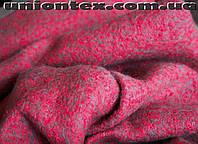 Ткань для пальто букле малиновая  (Турция)