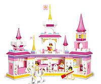 Конструктор Розовая мечта Замок принцессы: 385 детали, 4 фигурки, лошадка