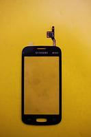 Сенсор Samsung s7262 Galaxy чорний З ПРОКЛЕЙКОЮ.
