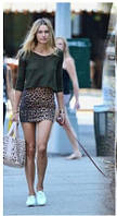 Мини юбка летняя Леопард