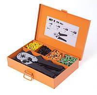 Пресс-клещи ПК-4вт (набор)  для опрессовки одинарных и двойных втулочных наконечников в наборе с наконечниками