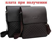 Мужская кожаная сумка рюкзак бренд Polo Поло