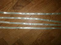 Лента  нежно-салатная, атлас тонкая, For Hand Made