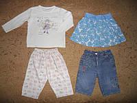 Летняя одежда 12-18мес.-кофта, юбка,штаны, джинсы