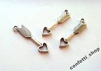 Подвеска ,,стрела любви,, металл (1 шт.)