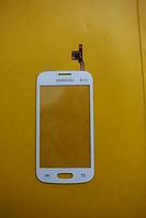 Сенсор Samsung s7262 Galaxy білий. З ПРОКЛЕЙКОЮ