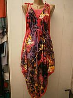 Платье -  сарафан  молодежное,    оригинальное.