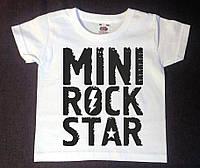 Детская футболка с надписью Mini Rock Star