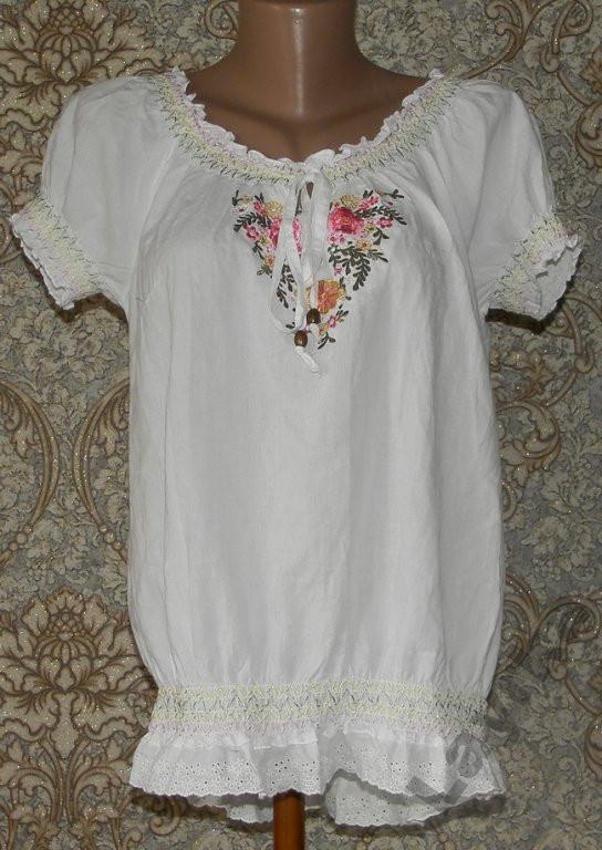 Блузка с вышивкой George 12р