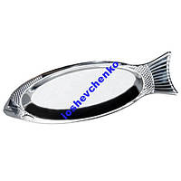 Блюдо для рыбы из нержавейки 35 см Kamille 4338