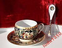 Подарочное чайное трио в китайском стиле. Фарфор.