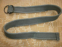 Ремень прочный плотный серый овальная пряжка