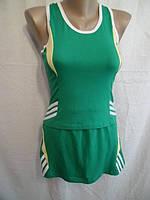 Летний  спортивный костюм - майка и юбка.