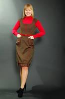 Платье-сарафан из стрейч коттона