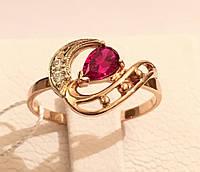 Золотое кольцо c рубином 585 пробы