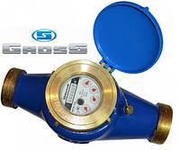 Счётчик GROSS MTK-UA Dn 50 крыльчатый (резьба), L=300мм, Qn=15,0 m3/ч многоструйный на холодную воду