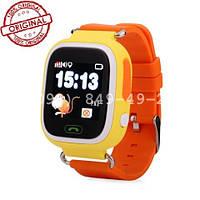 Часы с GPS для детей Q100-Vibro желтые. Оригинал. Новинка 2016!