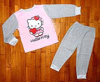 Теплая пижама для девочки Китти 86/92 рр