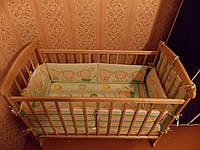 Детская кроватка Наталка, матрас, защита и балдахин