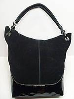Женская замшевая сумка Silvia Rosa, черный цвет