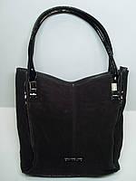 Женская замшевая сумка Silvia Rosa, цвет шоколад