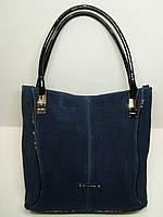 Женская замшевая сумка Silvia Rosa, синий цвет