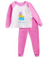 Пижама для девочки розовая, реглан комбинированный интерлок