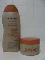 Набор крем для тема с аргановым маслом и гель для душа с аргановым маслом Deliplus