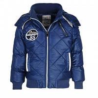 Осенние куртки на синтепоне и флисовой подкладке для мальчиков Glo-story синие.В остатке 104,110,116р.