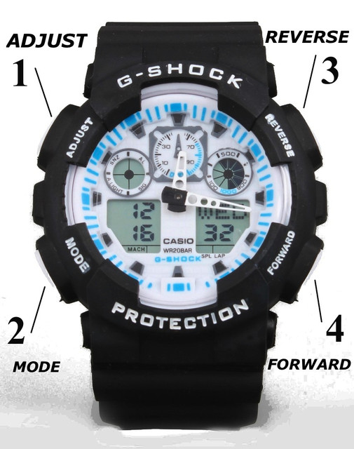 Часы Casio G-shock Ga-100 Инструкция - фото 5