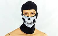 Подшлемник балаклава Скелет Skull (черный)