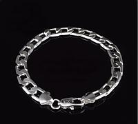Мужской браслет 8 мм Серебро 925