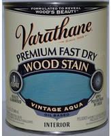 Морилка для дерева на масляной основе,тонирующее масло,цвет аква(Vintage Aqua) Rust Oleum(США) 0,946 л.