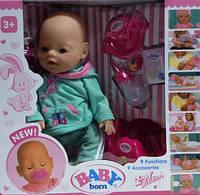 "Кукла-пупс Беби Борн ""Baby Born"" 8001, 9 функций, 9 аксессуаров, Baby"