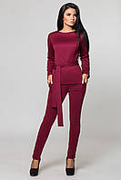 Костюм женский, кофта и брюки | бордовый