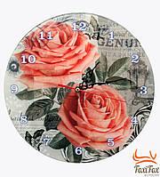 Оригинальные круглые часы на кухню Розы
