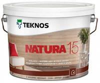 Лак для дерева мебельный акриловый TEKNOS NATURA 15 полуматовый 2,7л.