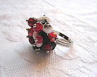 Кольцо ,,Фламенко,, ручная работа, авторский дизайн