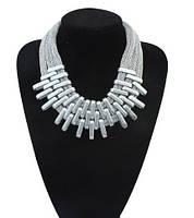 Колье Плетение серебро/бижутерия/цвет цепочки серебро
