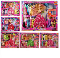 Кукла с набором одежды и аксессуарами типа Барби 9806-04