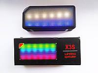 Беспроводная портативная блютуз колонка led bluetooth jambox x3s