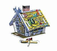 """Объемный пазл. Сборная игрушка """"Избушка"""". Материал: картон + изолон. Формат: mini"""
