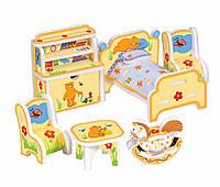 """Объемный пазл. Сборная игрушка """"Детская мебель"""". Материал: картон + изолон. Формат: mini"""