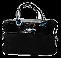 Прекрасная женская сумка из натурального замша с вставками черная MEE CAROLE