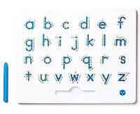 Магнитная доска для изучения английских маленьких прописных букв от А до Z, 3+ (цвет голубой), Kid О