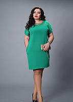 Новинка.Нарядное платье батал 48, 50, 52, 54, 56 размер т м Ангелина